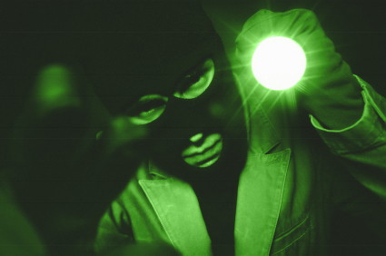 Night vision image of a thief XSmall